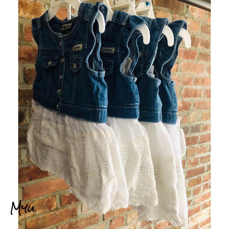 即納🇺🇸【60〜90cm】Calvin Klein Jeans Denim cotton dress