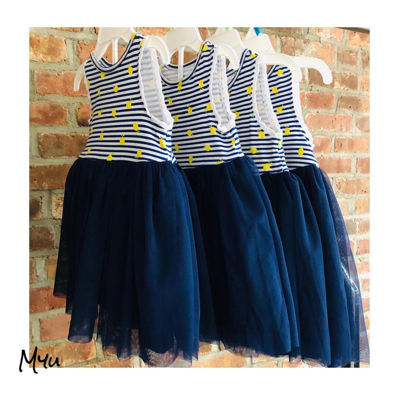 即納🇺🇸【70〜90cm】Lemon tulle dress