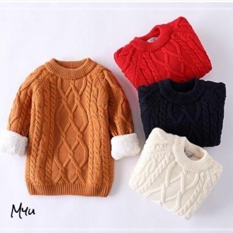 【80〜120cm】Boa cable knit
