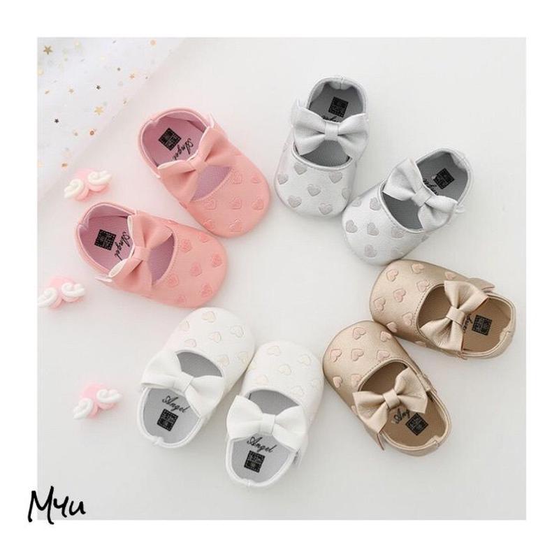 受注発注【11〜13cm】Baby ribbon shose