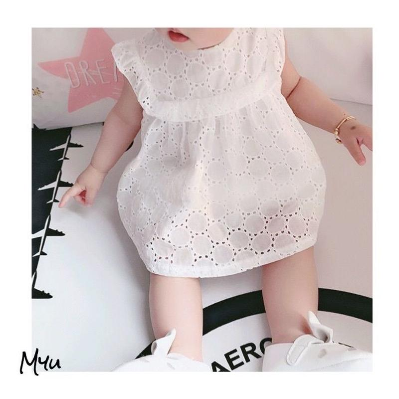 受注発注【66〜100cm】Cotton  lace dress