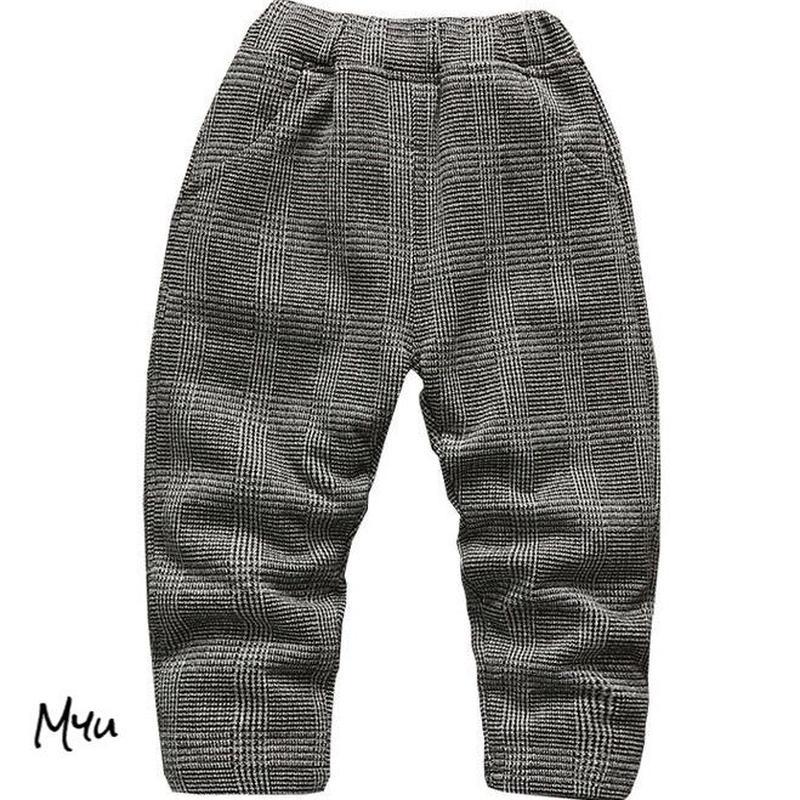 【90〜120cm】Glen check pants