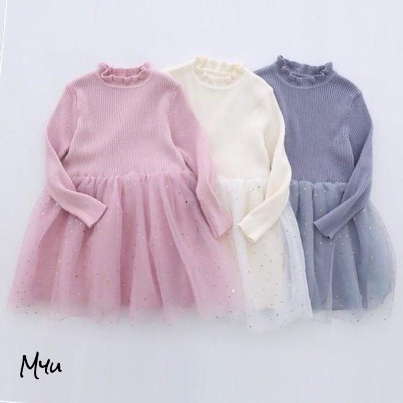 即納【100〜120cm】SS Star tulle dress