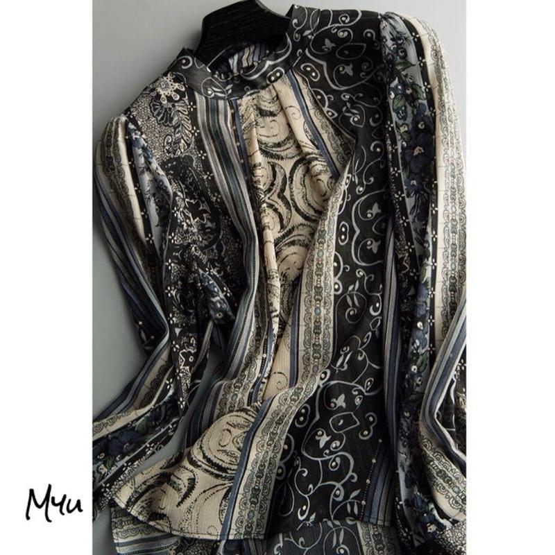 即納【LADIES】Chiffon blouse