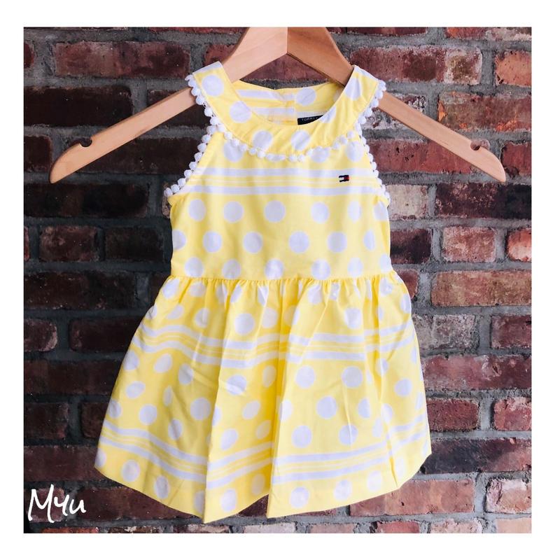 即納🇺🇸【80〜90cm】TOMMY HILFIGER Dot dress
