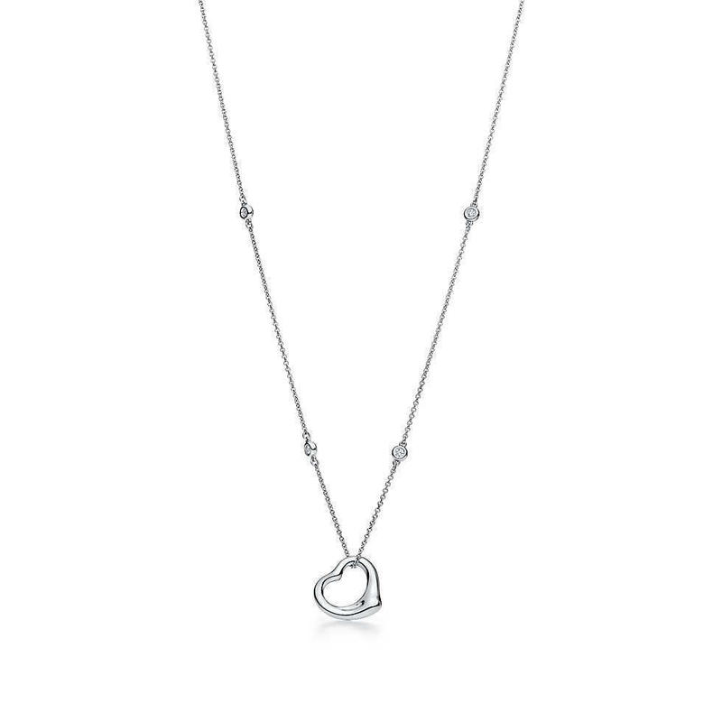 日本未入荷【Elsa Peretti®︎】Diamond by the  Yard Open Heart Pendant