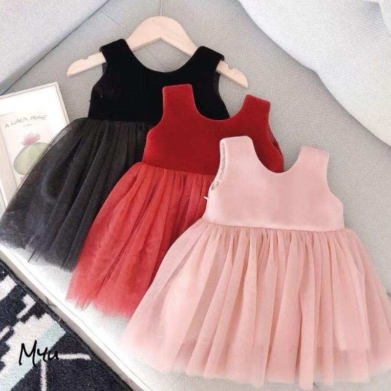 Ribbon tulle dress