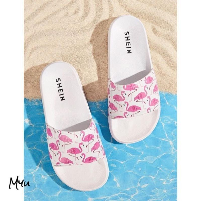 受注発注 Flamingo  print slippers