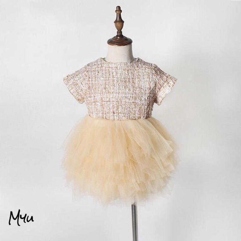 予約販売【66〜120cm】Tweed princess dress