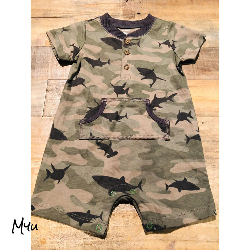 即納🇺🇸【50〜70cm】CARTER'S ARMY ROMPERS