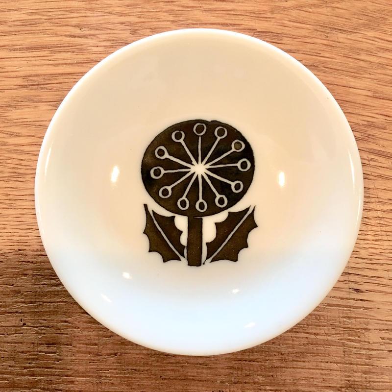 松尾ミユキ 豆皿 Flower Black