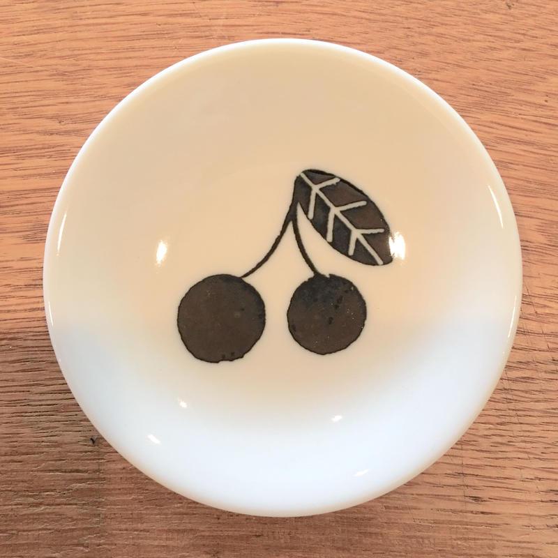 松尾ミユキ 豆皿 Fruit Black