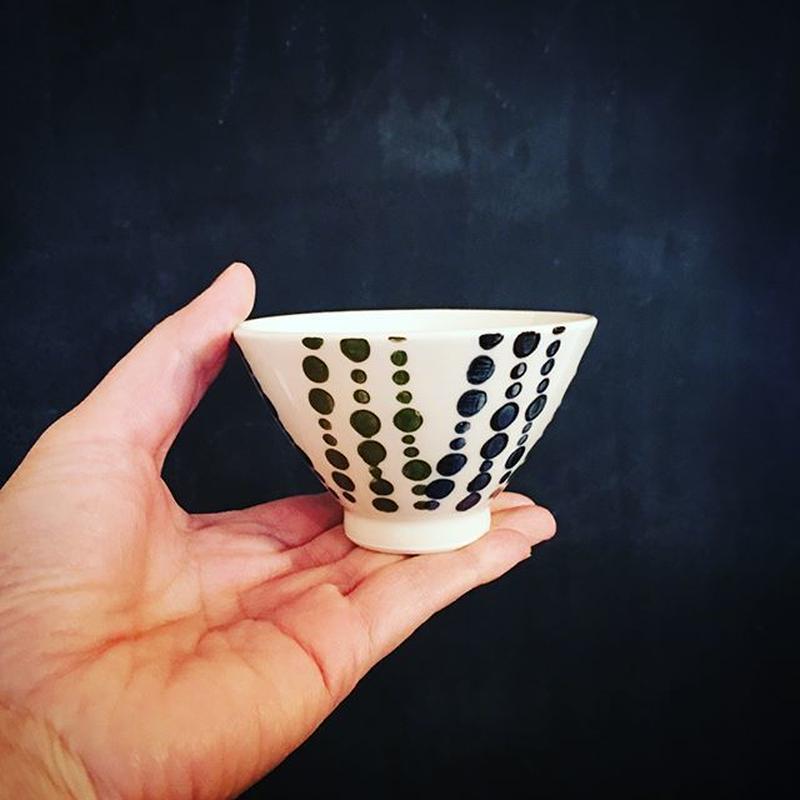 小さな飯碗  水玉