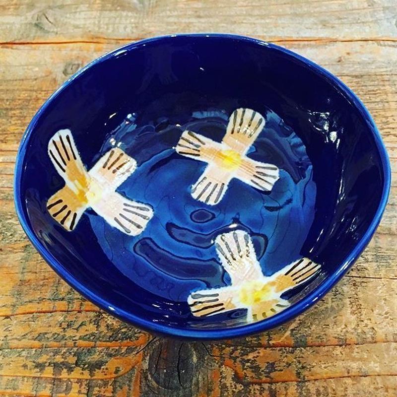 瑠璃釉中鉢