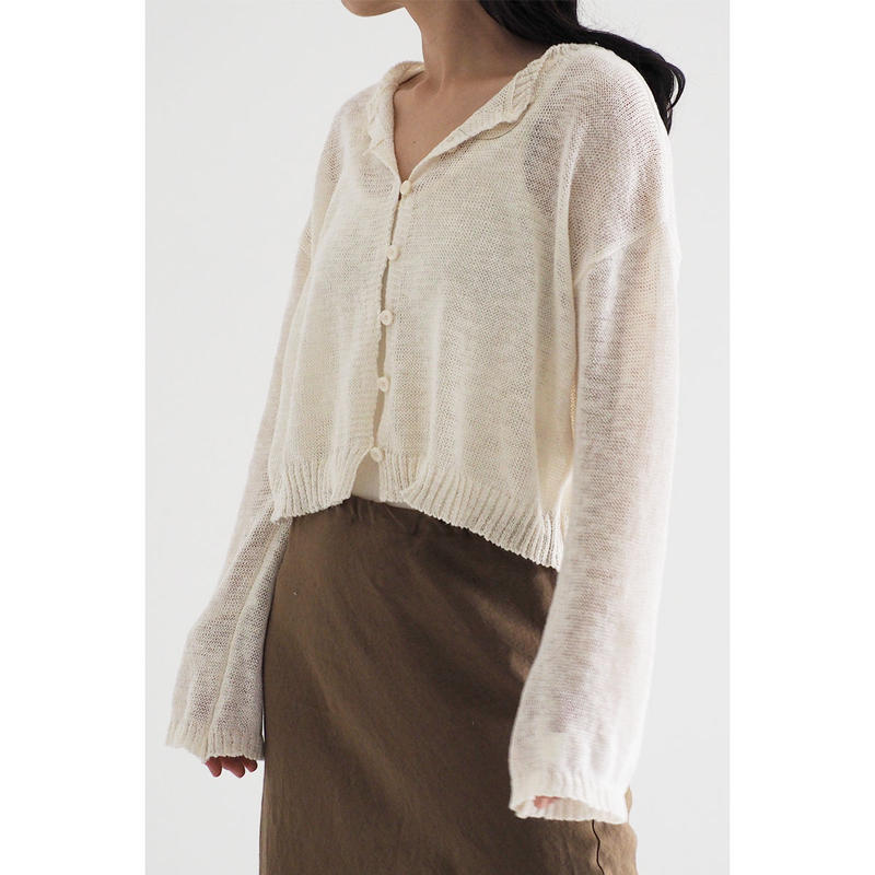 Linen knit cardigan