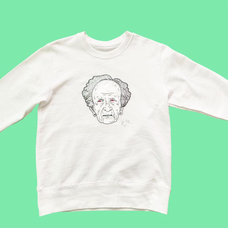 Obasan crew neck sweatshirt - White