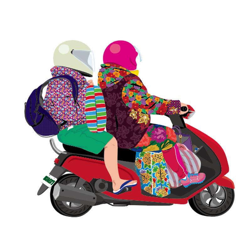 Postcard - Motorbike