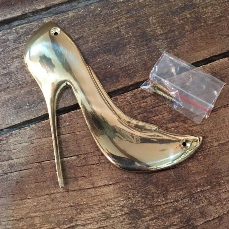 ダルトン トイレサイン 女性用 ハイヒール ゴールド 真鍮