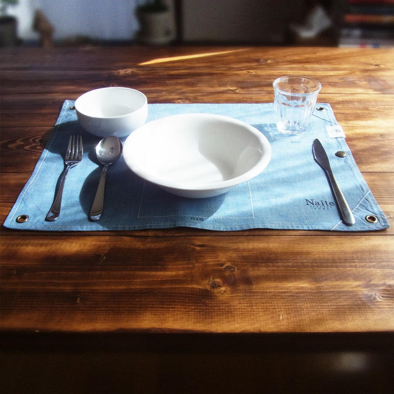 Chambray place mat / メンズ・プレースマット Made in JAPAN 送料無料