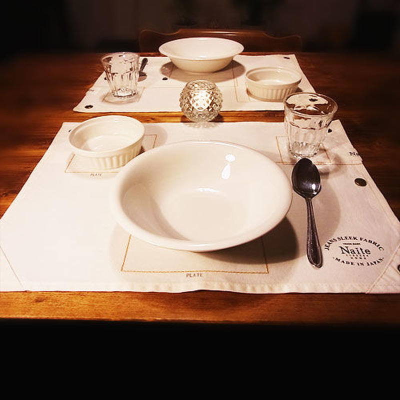 Jeans sleek place mat / メンズ・プレースマット Made in JAPAN 送料無料