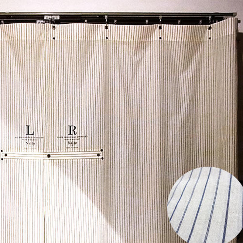 Work stripe curtain short / メンズ・カーテン ※受注生産商品 Made in JAPAN 送料無料