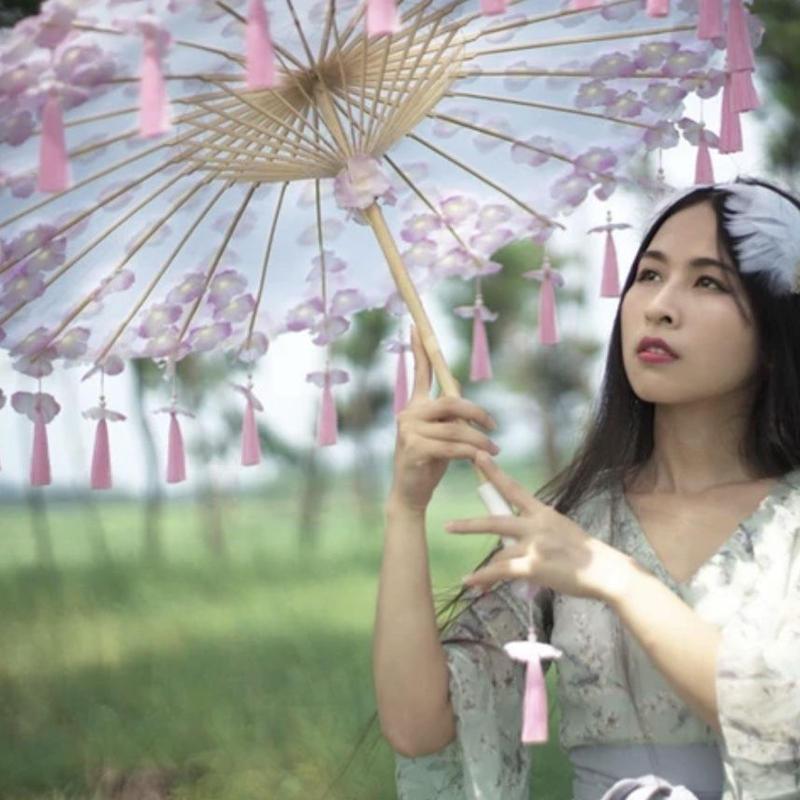 桃色紫陽花花傘