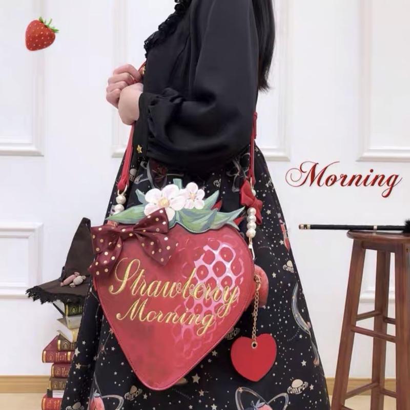 【ご予約】絵本苺の大きなバッグ