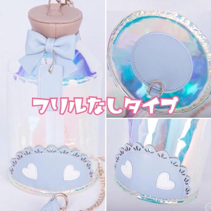 【専用商品】夢小瓶痛バッグ 透明フリルなしブルー