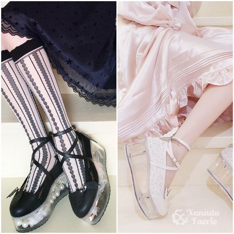 天使と悪魔の痛靴クリアヒール