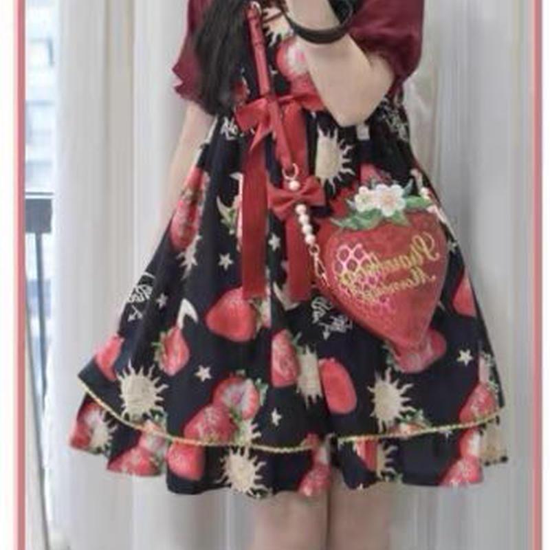 【ご予約】絵本苺の小さなバッグ
