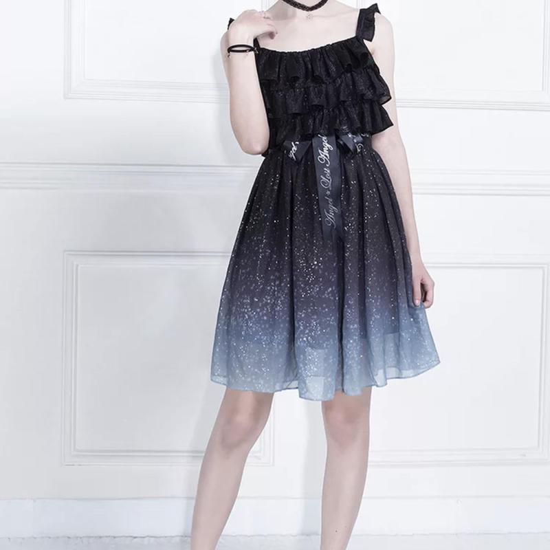 【専用商品】星空を纏うドレス黒S