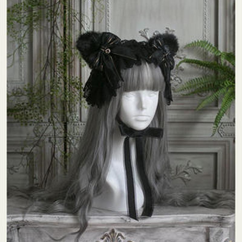 【専用商品】猫耳ヘッドドレス黒2点