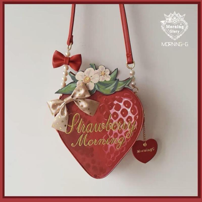 【ご予約】絵本苺の中くらいバッグ