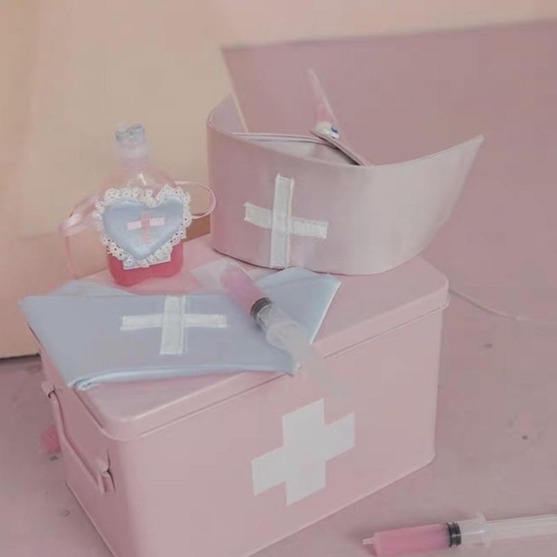 歯の病院ナースキャップ【ブルー】