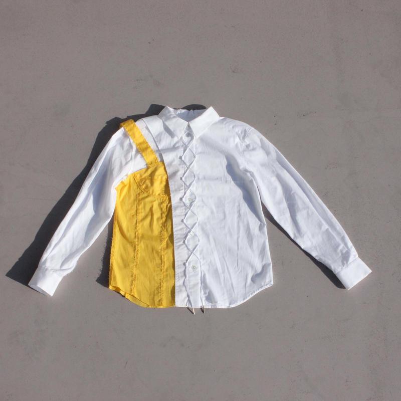 《Akihide  Nakachi》インフォールド シャツ -Yellow-