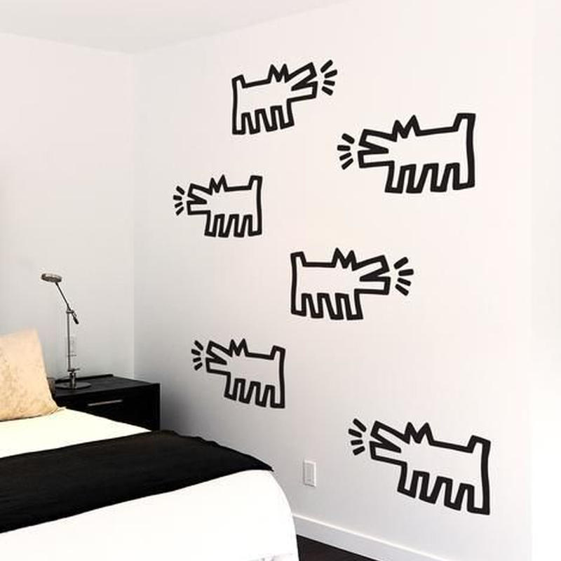 BLIK  Keith Haring Barking Dog Wall Sticker