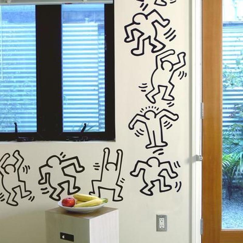 BLIK  Keith Haring  Dancers ブラックWall Sticker