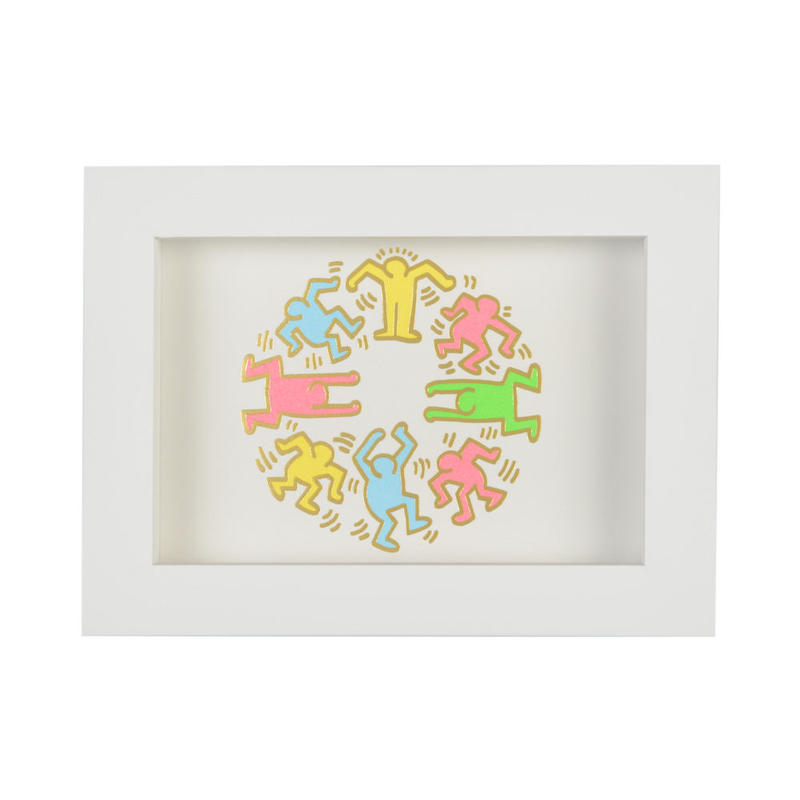 Framed Embossed Postcard  額装ポストカード  箔押し (People Circle)