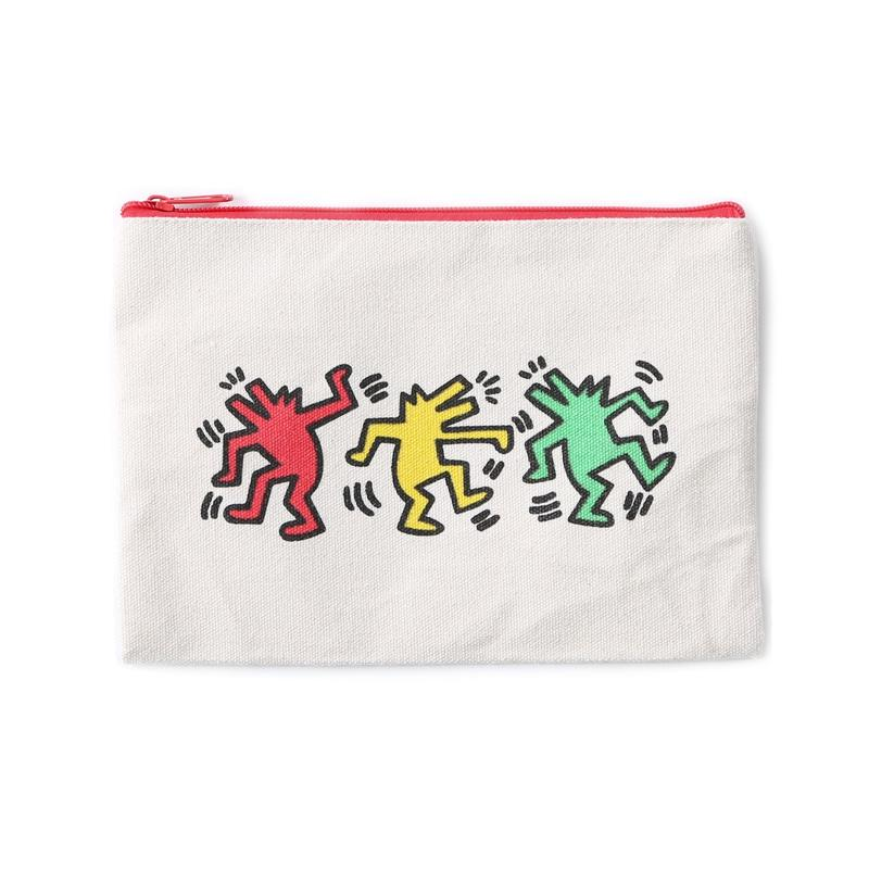 ASOKO  KEITH HARING POUCH (DANCING DOG&DOG)