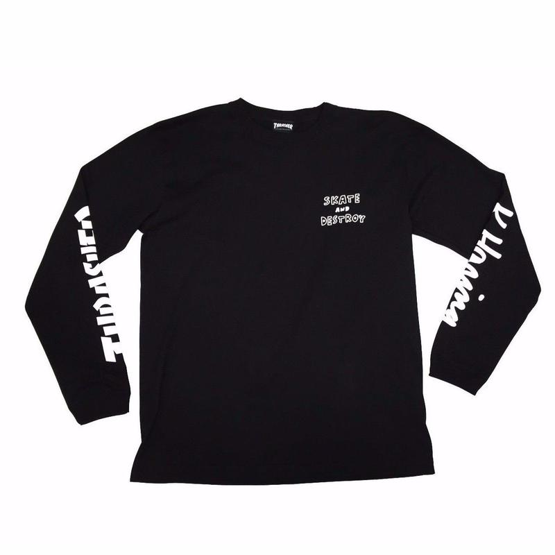 Keith Haring × THRASHER 35th Long Sleeve T-shirt   Black