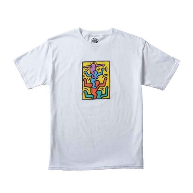 Keith Haring Shoulder People Kids T-Shirt White キース・ヘリング キッズ Tシャツ