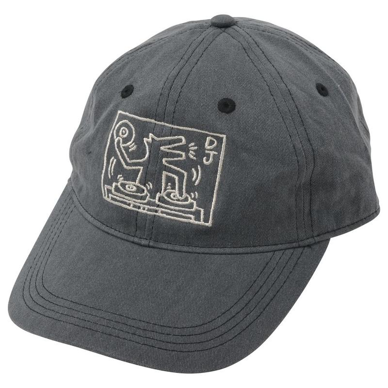 POP SHOP Keith Haring Baseball Cap (DJ Dog) Gray