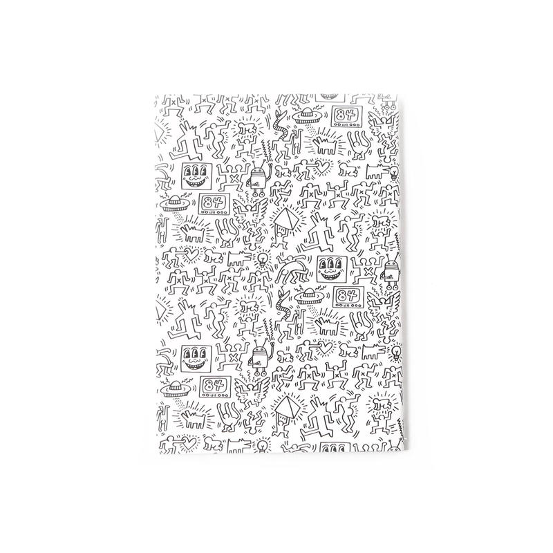 ASOKO  KEITH HARING NOTE BOOK (PATTERN)