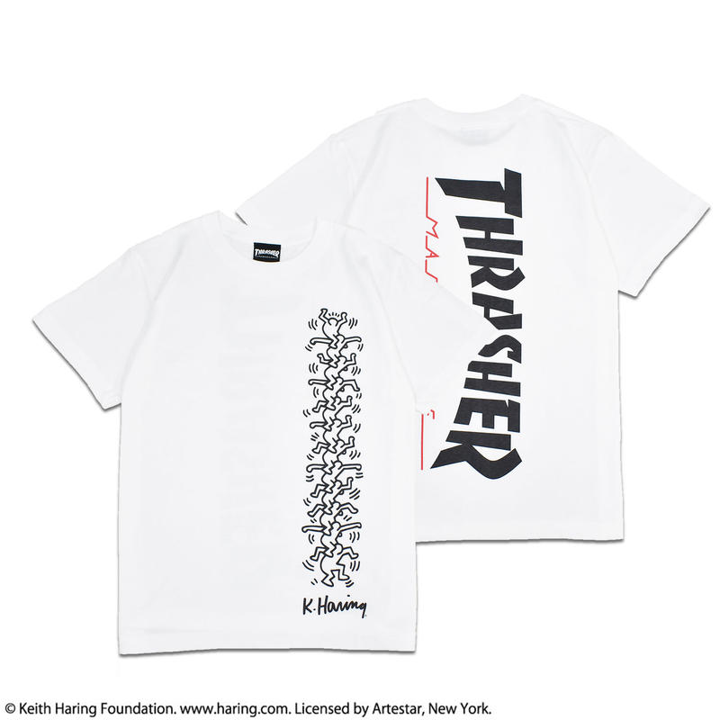 Thrasher × Keith Haring T-Shirts 2018 People Ladder ( White)