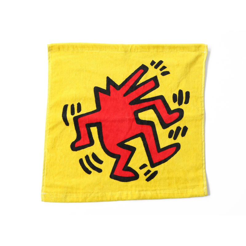 ASOKO  KEITH HARING TOWEL  (DANCING DOG)