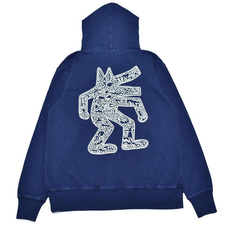 Nouno Keith Haring Indigo Zip Parka