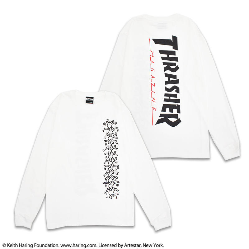 Keith Haring × THRSHER  Long Sleeve Tee White LT19
