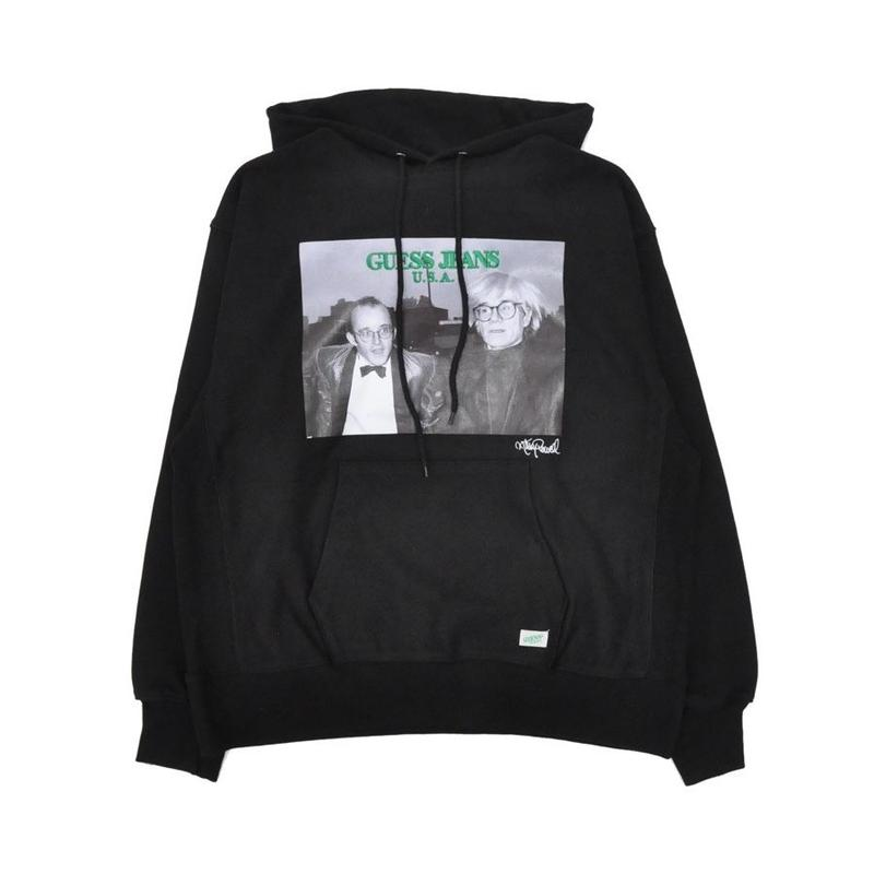 GUESS GREEN LABEL Keith Haring & Andy Warhol  Hoodie (Black)
