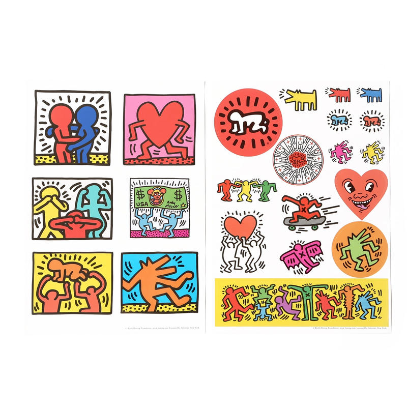 ASOKO  KEITH HARING CLEAR STICKER SET