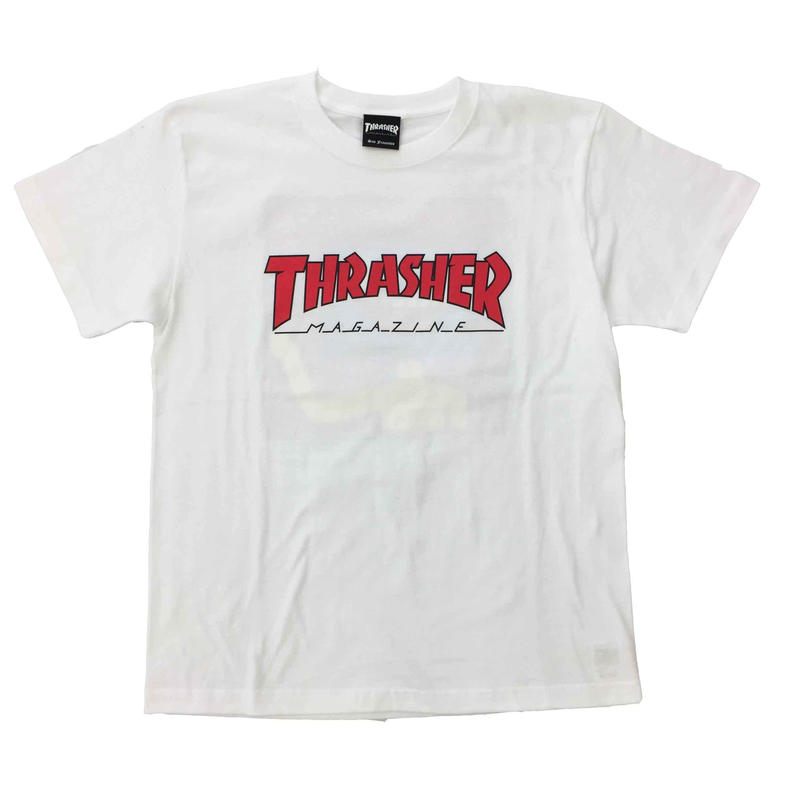 "Keith Haring × THRASHER Unisex T-Shirts ""TV ""  White"